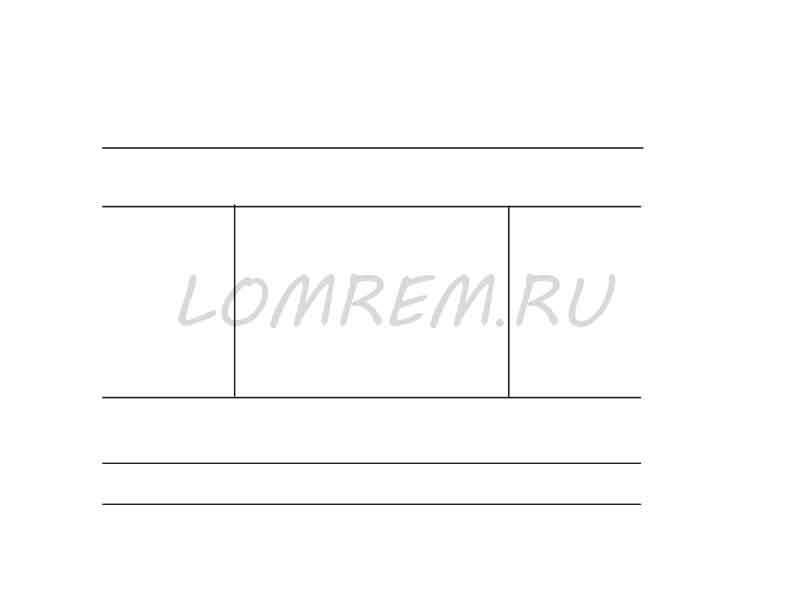 Схема закруглённой гипсокартонной ниши