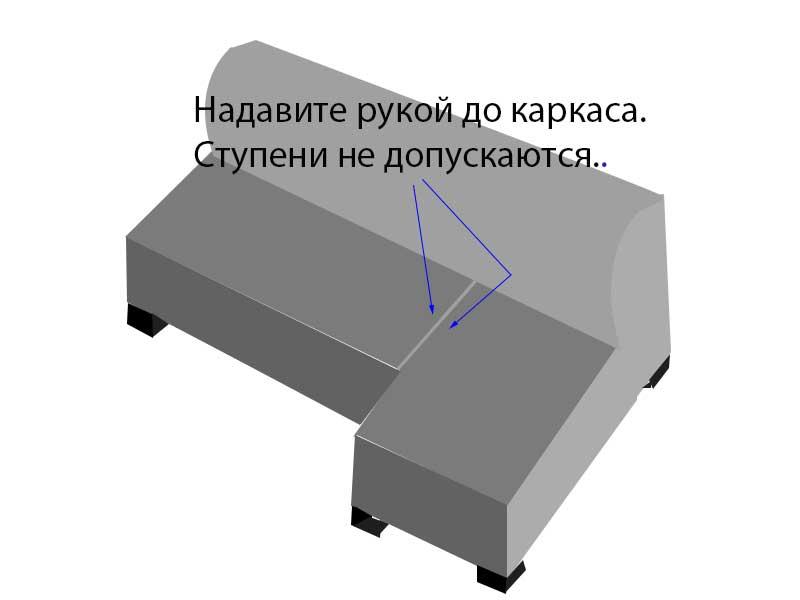 Соединение каркасов дивана