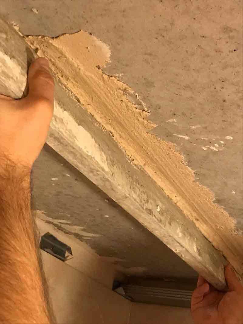 Монтаж маяка из штукатурки по шурупам
